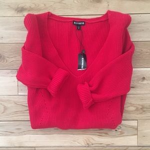 NWT Express red sweater
